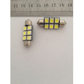 Лампа LED 211 6 SMD 36 mm.